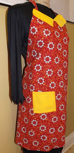 Adult Full size Red/Yellow Flower Apron IN STOCK