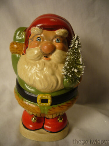 Vaillancourt Folk Art Jolly Santa with Bells on Shoes