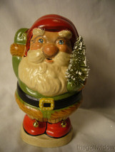 Vaillancourt Folk Art Jolly Santa with Bells on Shoes image 1