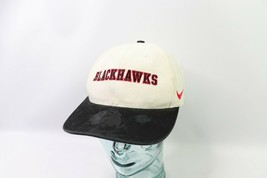 Vintage 90s Nike Chicago Blackhawks NHL Hockey Spell Out Strapback Hat C... - $34.60