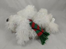 "Ganz White Dog Plush BOOTS Puppy 10"" 1995 Stuffed Animal toy - $17.95"