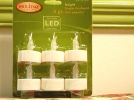 6 Tealights LED, Battery Operated Holiday Liviing - $5.50
