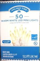 50 Warm White Mini LED Lights, White Wire,  Xmas Wedding Party  - $9.41