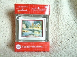 Thomas Kinkade Holiday Ornament by Hallmark House Cottage, Stream, Deer - $10.17