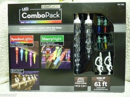 Lightshow LED Combo Pack, Synchro Lights & Starry Night with Clips - $78.98
