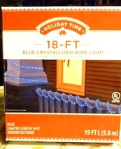 Holiday Time 18 ft Blue Crystallized Rope Light - $20.74