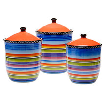 Kitchen Canister Set 3 Piece Ceramic Sugar Coff... - $126.95