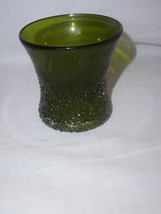 1 Overshot Glass Green Tumbler Beautiful Stunning  RARE EXCELLENT - $54.97