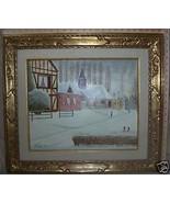 Original Oil Painting by Andre Bouquet Title: Port Joie - $2,193.00
