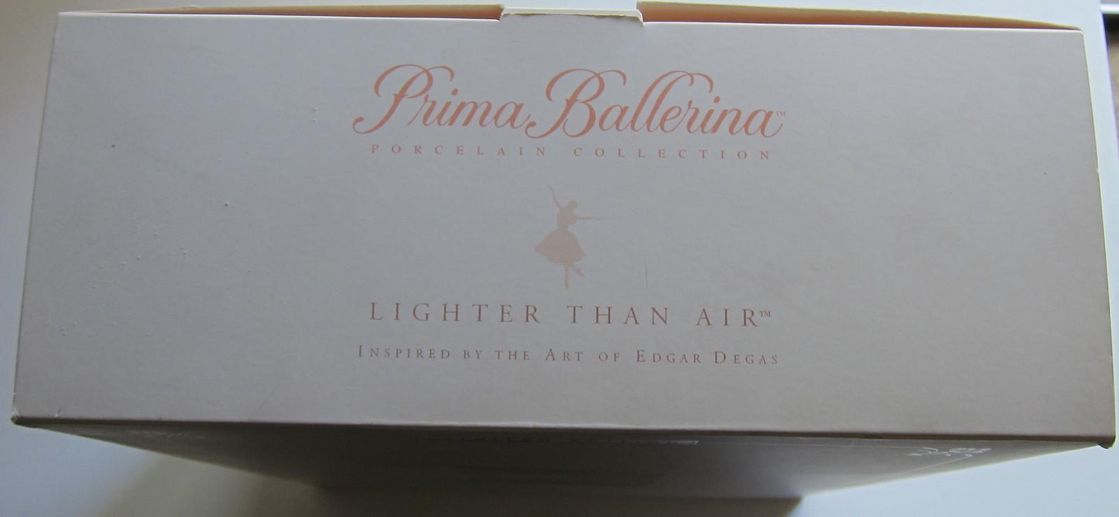 Ligher than Air Degas Prima Ballerina Porcelain Barbie Doll LE NRFB 2001