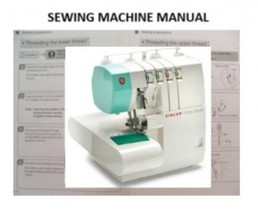 Instruction Manual for Singer 14SH764, Sewing machine - $9.50