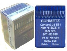 SCHMETZ Industrial Overlock Sewing Needles,B27 100pcs.# 11/75 - $36.35