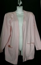 Vintage FSA for Anne Klein Large L Open Front Jacket Cardigan Pink      ... - $18.68