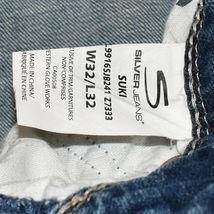 Silver Jeans Women's Suki Bootcut Embroidered Medium Blue Denim Size W32/L32 image 5