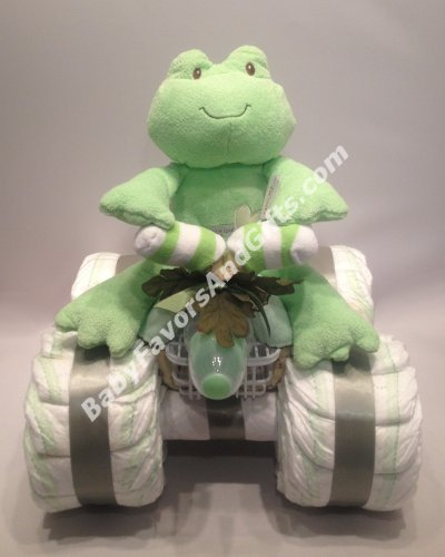 4 Wheeler (ATV) Diaper Cake - see more colors and toys