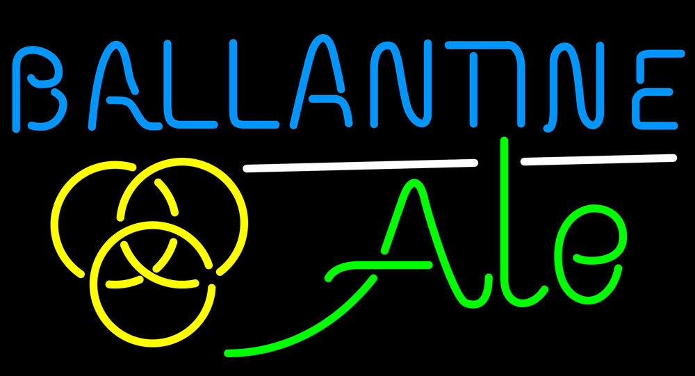 Primary image for Ballantine Ale Yellow Neon Sign