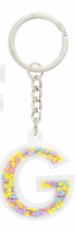 Disney Parks Mickey Mouse Bead Letter G Initial Keychain NEW - $15.90