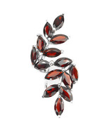 Genuine MOZAMBIQUE GARNET Leaf Knuckle Sterling Silver Ring/925-Gorgeous - $129.00