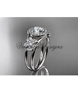 "Platinum diamond , Sakura engagement ring ""Forever One"" Moissanite VD8131 - $2,675.00"