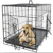 "42"" Dog Crate 2 Door w/Divide w/Tray Fold Metal Pet Cage Kennel House for Animal - $269.95"