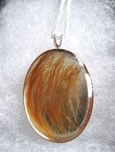 Keepsake Pet Hair Sterling Silver Pendant Preserved forever in hand cast... - $43.69