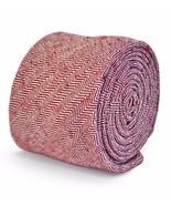 Frederick Thomas Designer Tweed Wool Mens Tie - Maroon Burgundy - Herrin... - $16.14