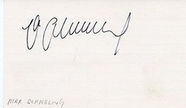 MAX SCHMELING Autograph on index card - $21.78