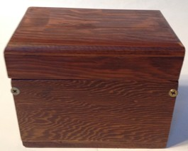 Vintage Wood Wooden Recipe Card File Box - $19.80