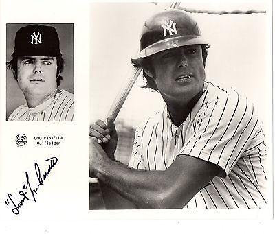 Primary image for NEW YORK YANKEES - 5 Signed photos - White, Randolph, Stanley, Piniella, Dent