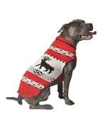 Red Reindeer Shawl Knit Dog Sweater Chilly Dog Hand Knit Wool  XXS-XXXL ... - $30.68+