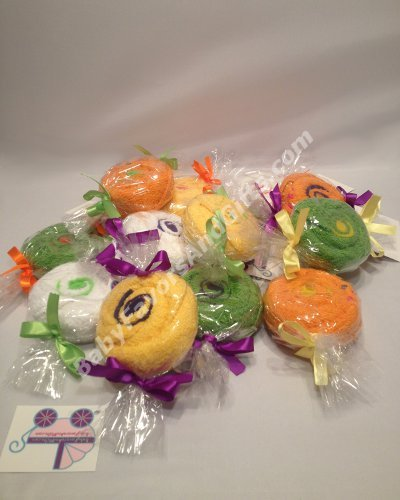 Washcloth Candy Mints Shower Favors - Set of  6