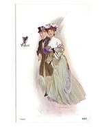 Violets Romance Couple Artist Signed JV McFall Volland Halftone Reprint ... - $4.99