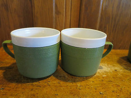 4 Olympian Therm-O-Ware Mugs Cups Vintage  Avocado MCM - $10.39