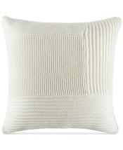 Tommy Hilfiger Cream Sweater-Knit Blocked Euro Sham retail $120 - $57.65