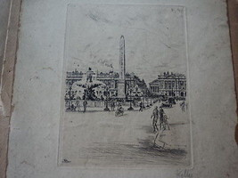 etching signed in pencil Kelly ( ANDRE DE SZEKE... - $88.11