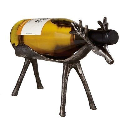 Darling Deer Rustic single bottle wine rack/holder-Set of 2!