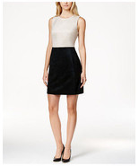 Calvin Klein New Black/Khaki Faux Suede Colorblocked Dress Petites  0P  ... - $79.98