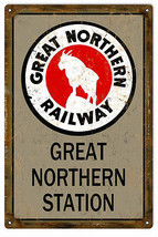 Great Northern Railway Station Sign - $25.74