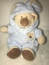 "Baby Ty Pluffies PJ Blue Bear Bunny Removable Pajamas Plush Love To Baby 7"" 2005 - $29.57"