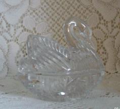 Vintage Lead Crystal Swan Trinket Dish // Ring Dish - $13.50