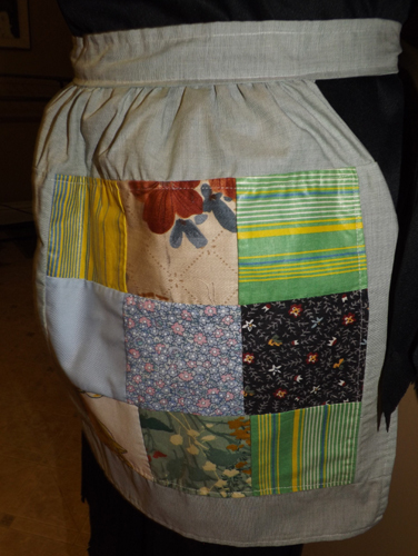 Half size patch quilt design apron IN STOCK
