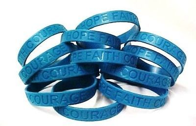 IMPERFECT Sexual Assault Awareness Teal Jelly Bracelets Lot of 12