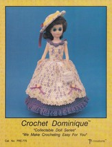 Dominique, Td Creations Crochet Doll Clothes Pattern Booklet PRE-775 - $3.95