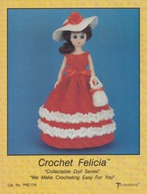 Felicia, Td Creations Crochet 15 in Fashion Doll Clothes Pattern Booklet... - $4.95