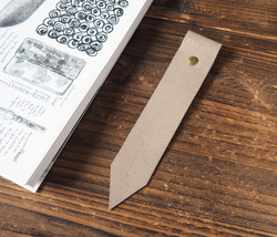 Leather Bookmarks - Handmade Bookmark, Minimalist, Personalized gifts#Di... - $12.99