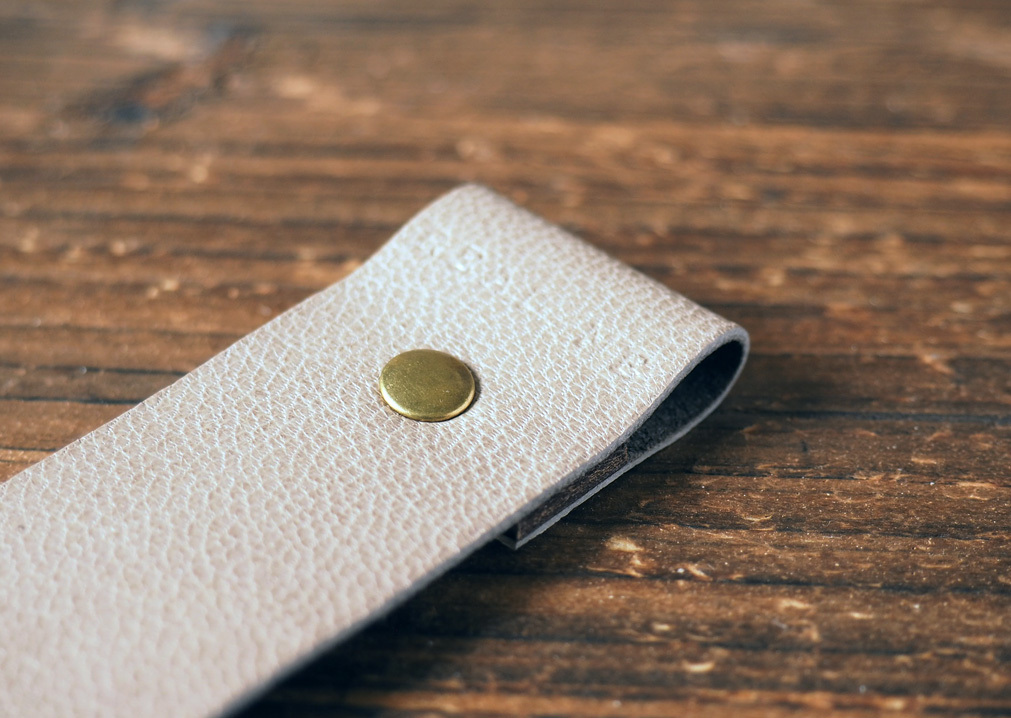 Leather Bookmarks - Handmade Bookmark, Minimalist, Personalized gifts#Dim Grey
