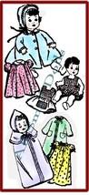 "Vintage Wardrobe Pattern for 10"" Baby Dolls - $8.99"