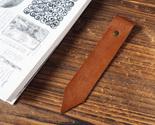 Leather bookmark dark brown p3270243 thumb155 crop