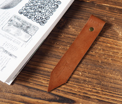 Leather Bookmarks -Handmade Bookmark, Minimalist, Personalized gifts#Dar... - $12.99