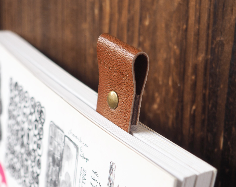 Leather Bookmarks -Handmade Bookmark, Minimalist, Personalized gifts#Dark Brown